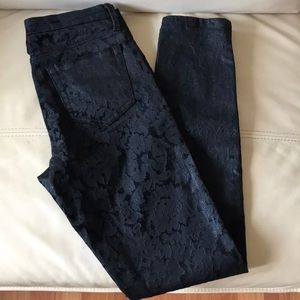 Marchesa voyage flocked skinny ankle pants size 27
